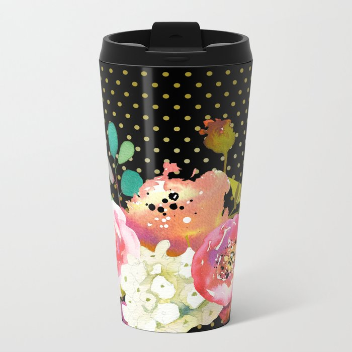 Flowers bouquet #32 Metal Travel Mug
