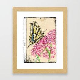 Collette's butterfly Framed Art Print