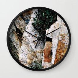 Rock Face Near Windamere Dam Wall Clock