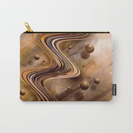Chocolate Waves Carry-All Pouch