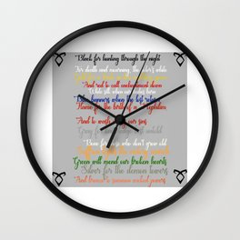 Shadowhunter rhymes Wall Clock