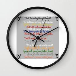 Shadowhunter rhymes Wall Clock