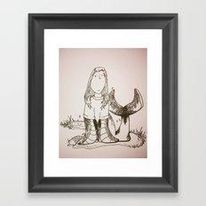 Sally's a Seal Framed Art Print
