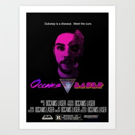 Occams Laser (faux movie poster) Art Print