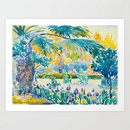 Henri-Edmond Cross Neo-Impressionism Pointillism Garden of the Painter at Saint Clair 1908 Art Print