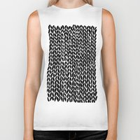 lawyer Biker Tanks featuring Hand Knitted Black S by Project M