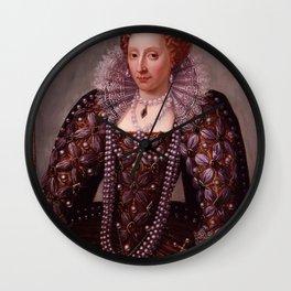 Portrait of Queen Elizabeth I Wall Clock