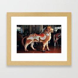 Outside Row Dog Framed Art Print