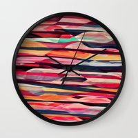 amy sia Wall Clocks featuring SIA by Pink Coffie