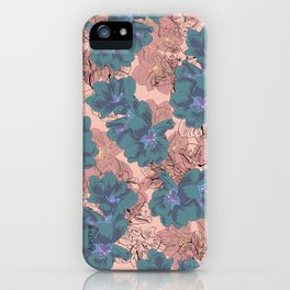 Faded Hibiscus Pink iPhone Case