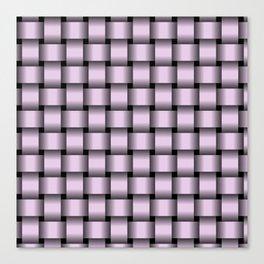 Pastel Violet Weave Canvas Print