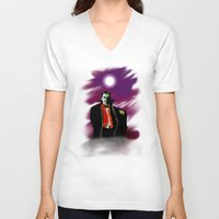 dracula V-neck T-shirts featuring Dracula by JT Digital Art