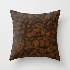 Coffee Bean Throw Pillow