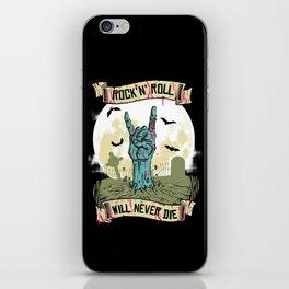 Rock'N'Roll will never die iPhone Skin