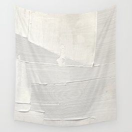 Relief [1]: an abstract, textured piece in white by Alyssa Hamilton Art Wall Tapestry