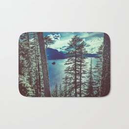 Crater Lake Vintage Summer Bath Mat