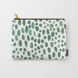 Green Watercolour Spots Carry-All Pouch