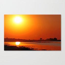 Evening at Chobe river, Botswana Canvas Print