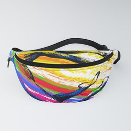 Break dance, ballet dancer jumping. Fitness acrobatics Fanny Pack