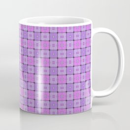 Violet Geometrical Pattern Coffee Mug
