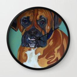 Boxer Dog Pet Portrait Wall Clock