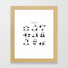Yoga Panda II Framed Art Print