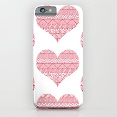 Patterned Hearts Pattern Slim Case iPhone 6s