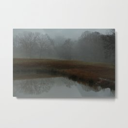 Foggy Morning at the Lake Metal Print