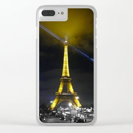saturday night Eiffel tower Paris by night Clear iPhone Case