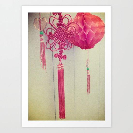 Chinese Lanterns III Art Print