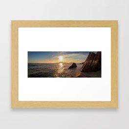Seychelles Panorama Framed Art Print
