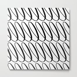 Curly Pattern 11 Metal Print