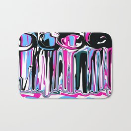 Abstract in Blue, Pink, Black and White Bath Mat