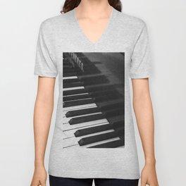 Old grand piano Unisex V-Neck