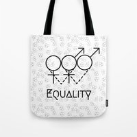 equality Tote Bags featuring Marriage Equality by Purshue feat Sci Fi Dude