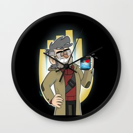 Ford Pines-Genius at Work Wall Clock