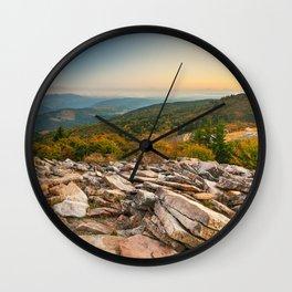 Spruce Knob Mountain Sunset Wall Clock