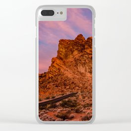 Sunrise Glow - Valley of Fire State Park Clear iPhone Case
