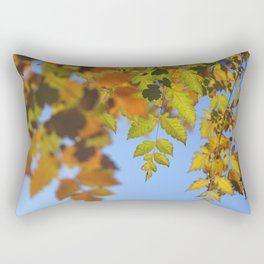 Fall time. Tree leaves Rectangular Pillow