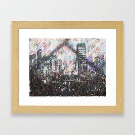 Tokyo Night Train Framed Art Print