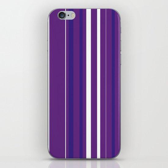 Purple Pin Stripes iPhone & iPod Skin