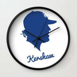 Clayton Kershaw Wall Clock