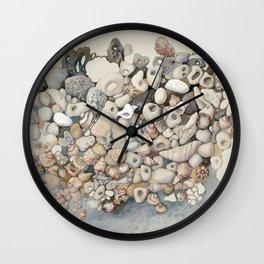 Sea shore Herzliya Apollonia Wall Clock