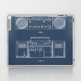 Boombox blueprints Laptop & iPad Skin