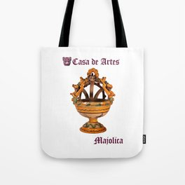 Majolica Incense Burner - Casa de Artes Tote Bag