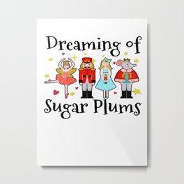ballet dreaming of sugar plums Christmas Metal Print
