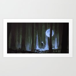 Moonforest Art Print