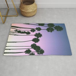 Palm Tree Purple Sunset Rug