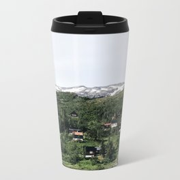 Cabins in the distance Travel Mug