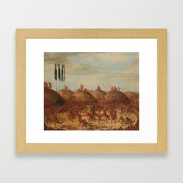 George Catlin - The Last Race Framed Art Print